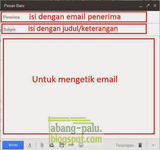 mengirim email ke orang lain