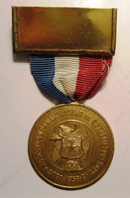 Medalla V Congreso Oftalmologia 1958