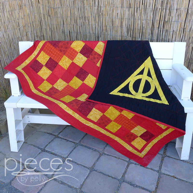 Pieces by Polly: Deathly Hallows Gryffindor Quilt - Harry Potter ... : harry potter quilt - Adamdwight.com