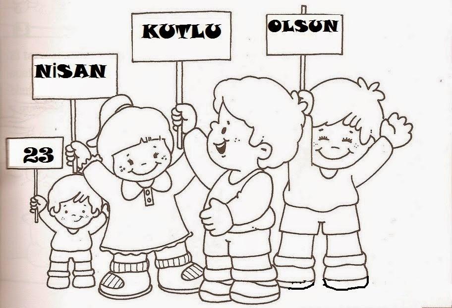 23 Nisan Anasınıfı Boyama Kağıtları Indir Anaokulu Okul öncesi 23