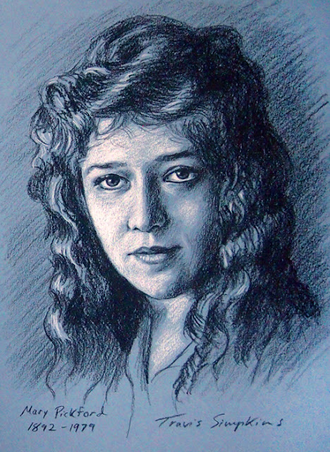 Mary Pickford. 1892-1979. America's Sweetheart. Silent Film Actress. United Artists. by Travis Simpkins
