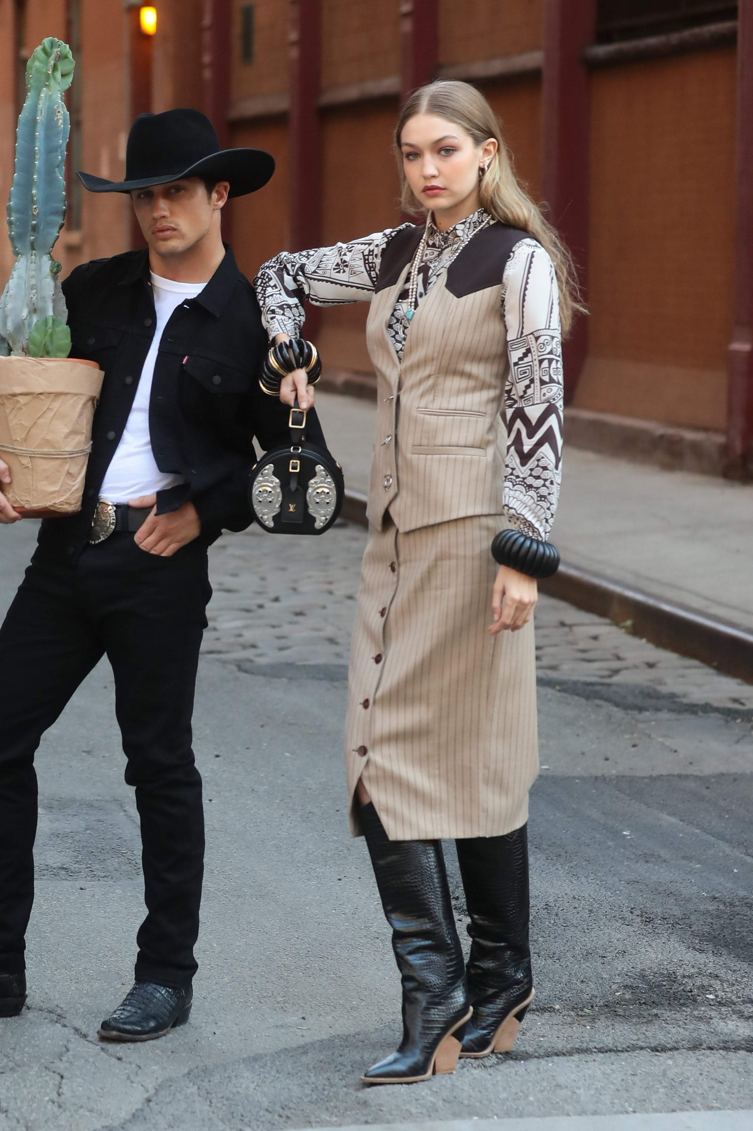 Gigi Hadid  Photoshoot In NYC With Bonner Bolton