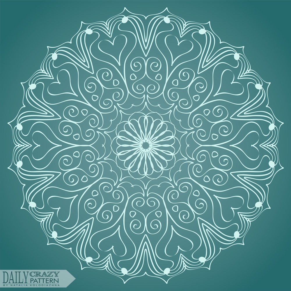 "Interesting mandala, circular pattern for ""Daily Crazy Pattern"" project"