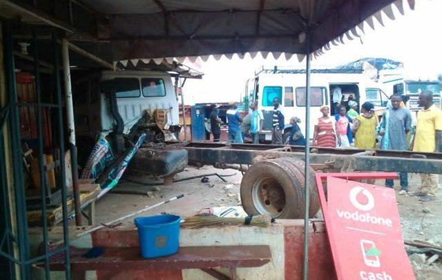 KIA Truck Crashes Into Building; 3 Critically Injured