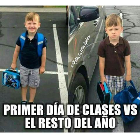 CHISTES MEMES DE INICIO DE CLASES