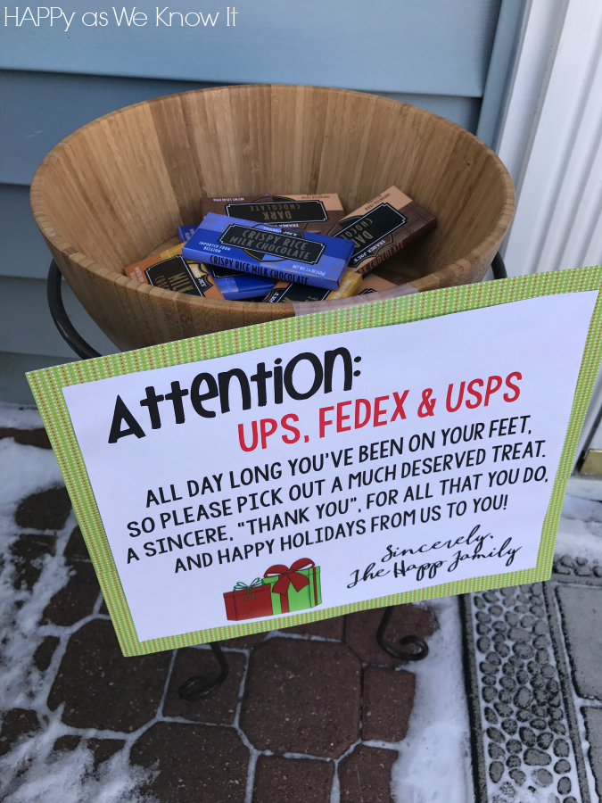Mail Carrier Holiday Sign Happy As We Know It
