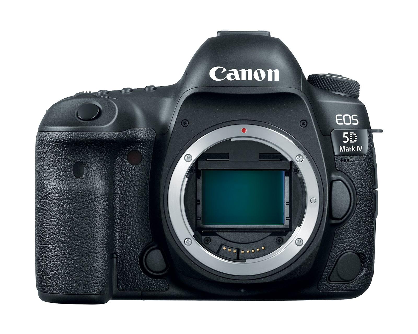 Canon EOS 5D Mark IV, вид спереди