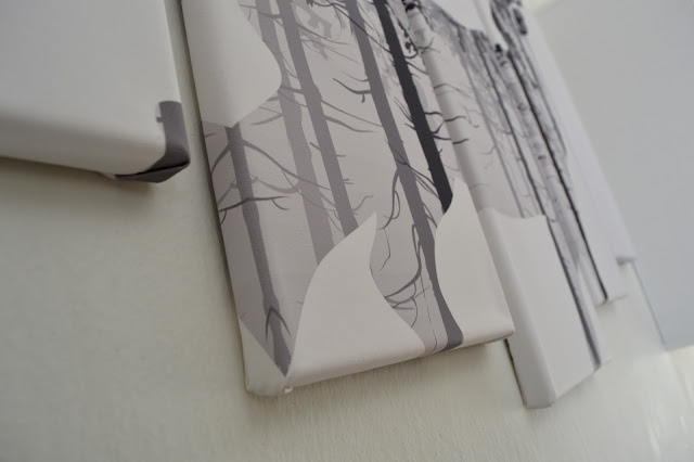 Detail nástěnného obrazu. Tisk na plátně.