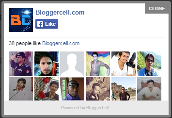 Facebook Popup Like Widget for Blogger