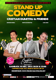 Stand-Up Comedy Sambata 10 decembrie Bucuresti