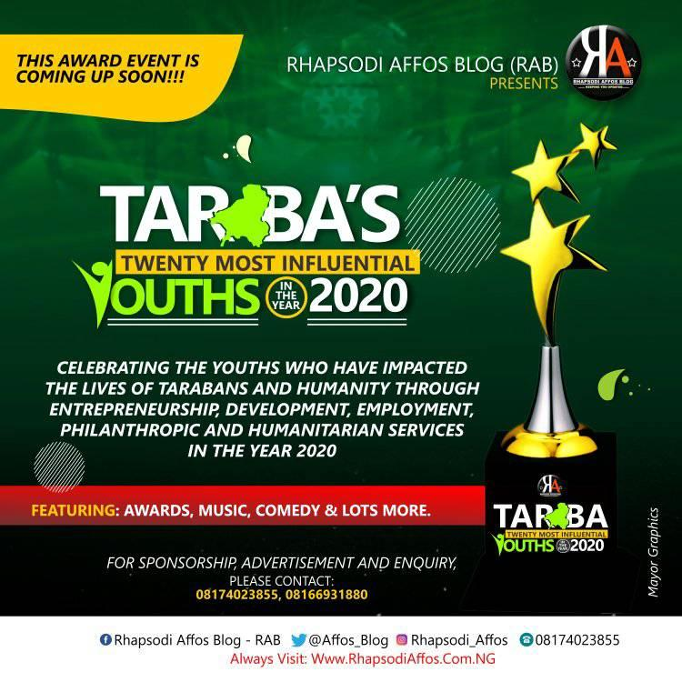 20  Most Influential Youths in the year 2020 to hold in Jalingo