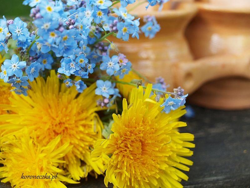 Gliniane dwojaczki z kwiatkami