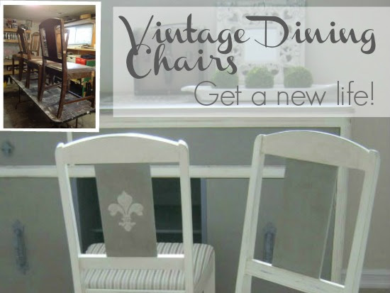 Old Violet  - Art Deco Dining Chair Set Makeover