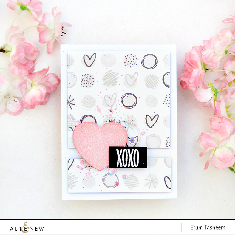 Altenew Watercolour Dots Stamp Set | Erum Tasneem | @pr0digy0