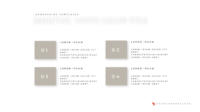 Number Options of Premium PowerPoint Template with Whit Title