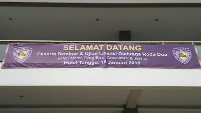 IMI Lampung Selenggarakan Seminar dan Ujian Lisensi Olahraga Roda Dua