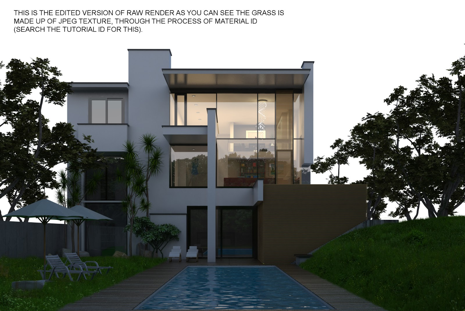 Sketchup Texture Vray Tutorial Exterior Night Scene 2