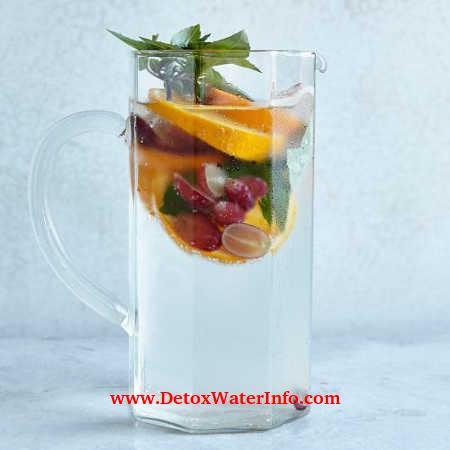 detox water orange grape basil infused