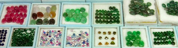 Cabochons from different materials