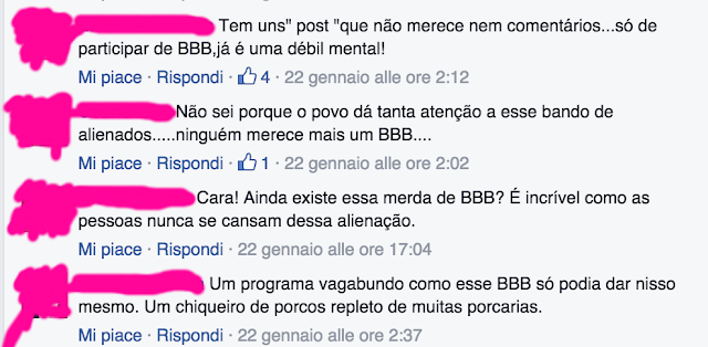 Posts muito sérios no Facebook