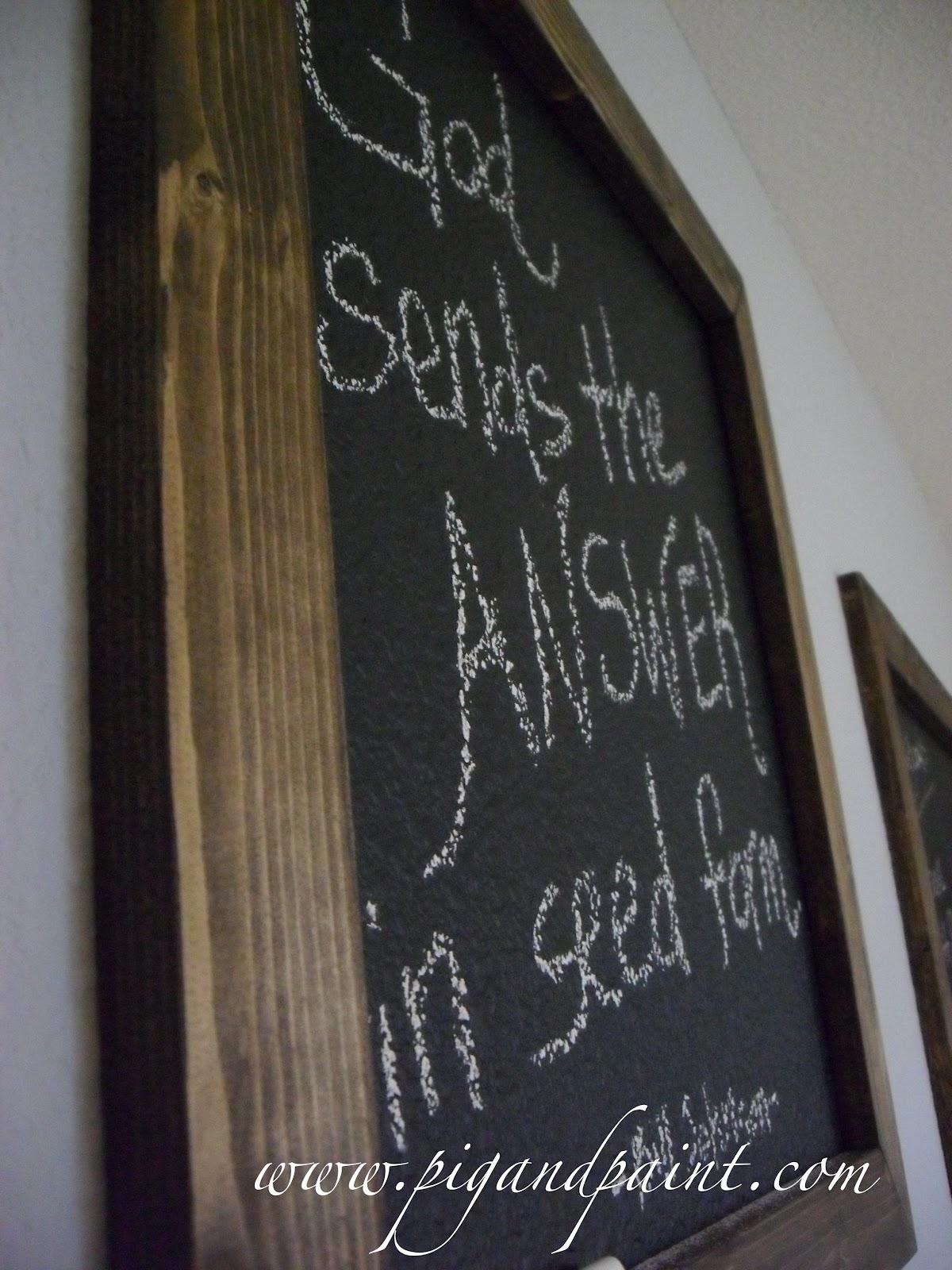 Chalkboard Paint On Heavily Textured Walls