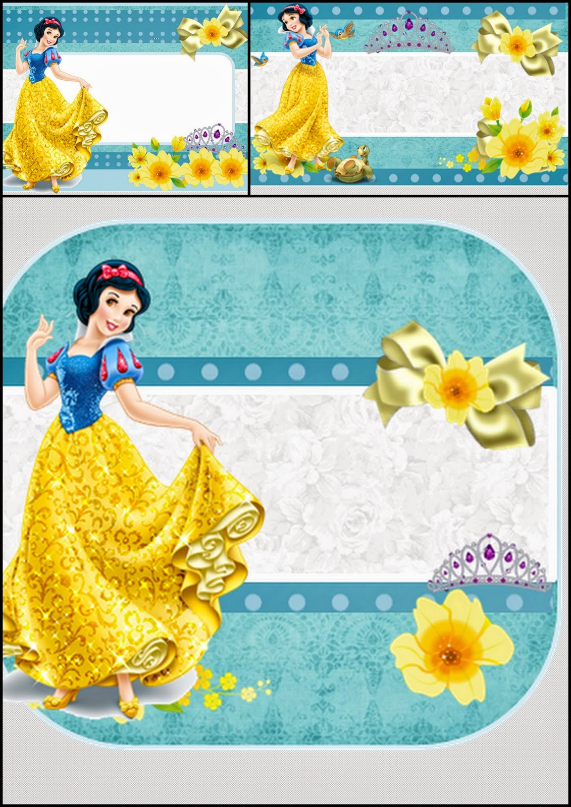 Snow White Free Printable Invitations Or Photo Frames