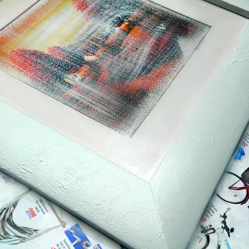 Un cuadro reciclado para una decoración frugal.