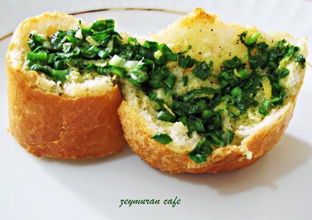 tereyağlı fırında ekmek kızartması