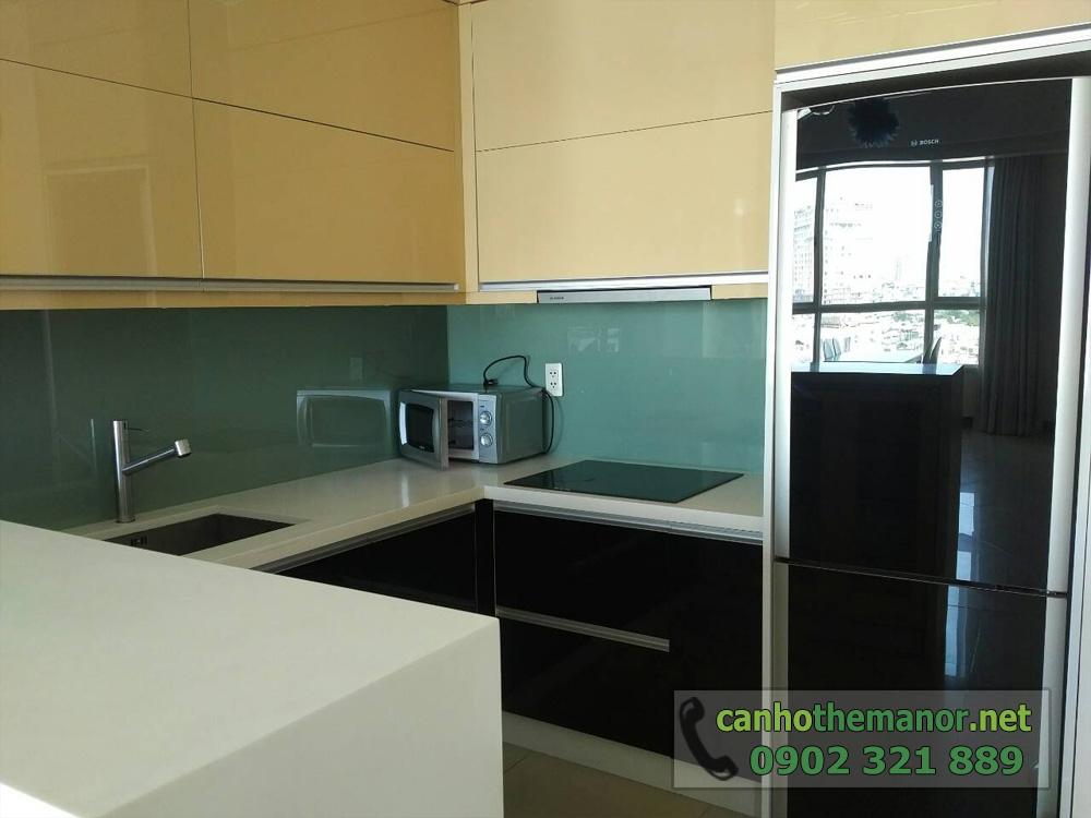 Căn hộ The Manor HCM tầng 10 diện tích 98m2 - không gian bếp