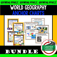 World Geography Anchor Charts, Bell ringers, Bulletin Boards, Word Walls, Mapping Skills, Five Themes, People and Resources, United States, Canada, Europe, Latin America, Russia, Middle East, North Africa, Sub-Saharan Africa, Asia, Australia, Antarctica