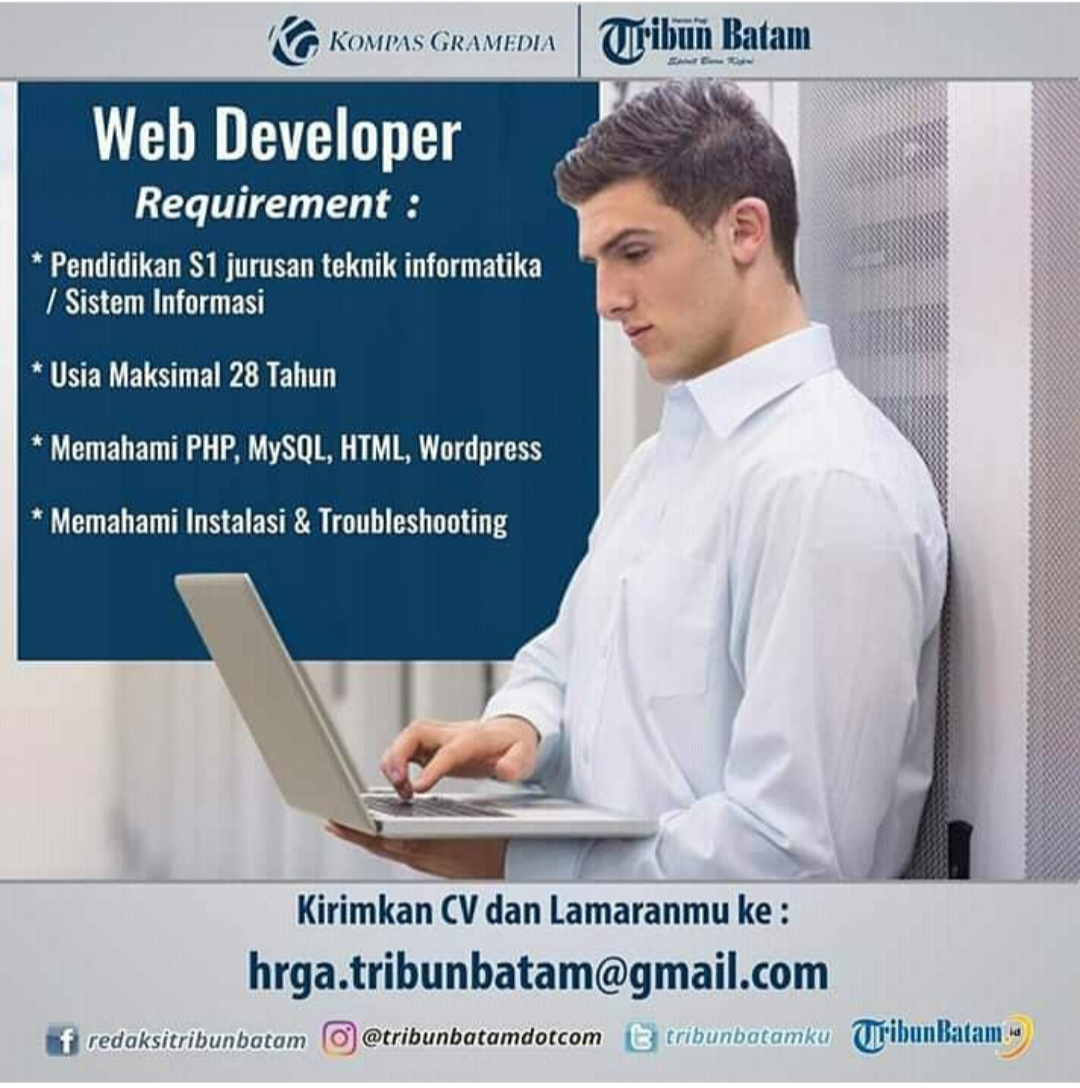 Lowongan Web Developer Tribun Batam