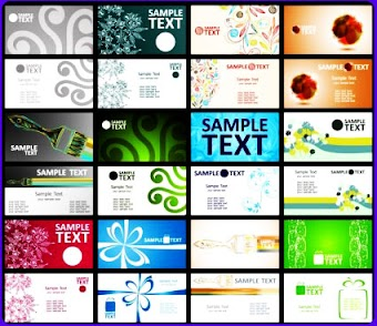 Free vector business card set 10