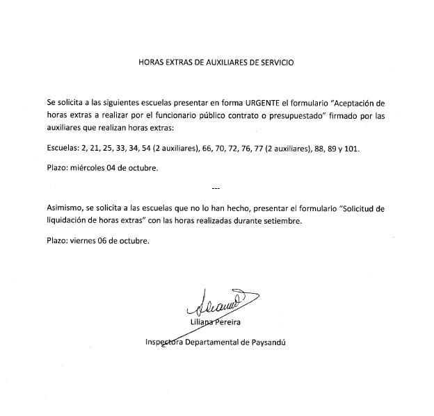 HORAS EXTRAS AUXILIARES DE SERVICIO