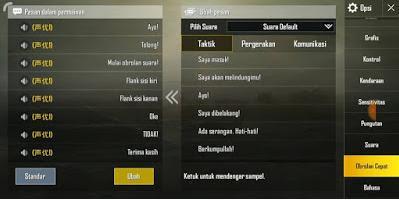 cara merubah suara quick chat pubg mobile ke jepang