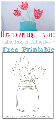 How to Applique Fabric using Iron-on Adhesive PLUS free printable Collage