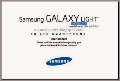 Samsung Galaxy Light Manual Cover