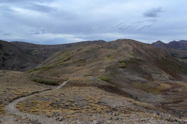 trail on a ridge line of tundra