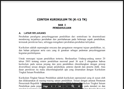 Download Dokumen 1 Kurikulum 2013 PAUD, KTSP PAUD Non Formal
