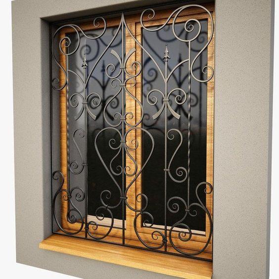 25 Amazing Iron Window Grill Designs