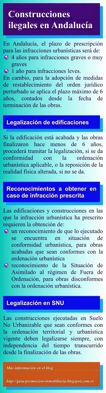 Regulación de construcciones ilegales en Andalucía