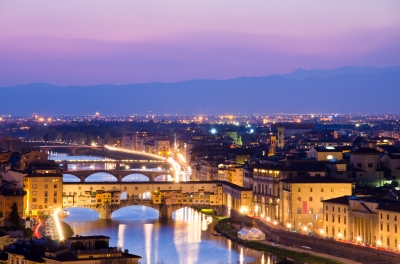 River Arno In Florence Italy