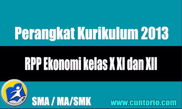RPP Ekonomi kelas X XI dan XII Kurikulum 2013