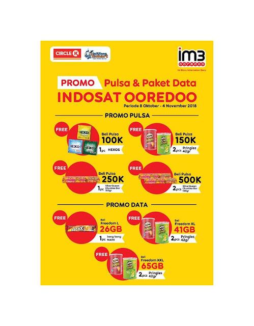 CircleK - Promo Bonus Isi Pulsa & Paket Indosat Ooredo (s.d 4 Nov 2018)