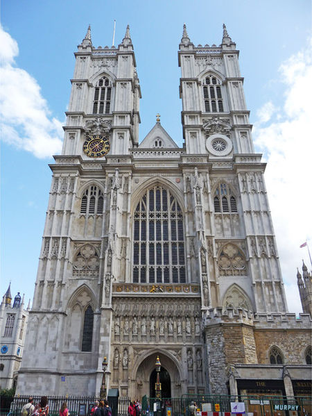 West side of Westminster Abbey in London