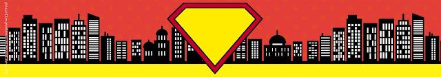 Etiquetas de Superman Comic para imprimir gratis.