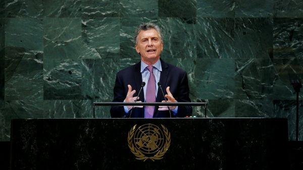 Macri acepta crisis económica de Argentina ante la ONU