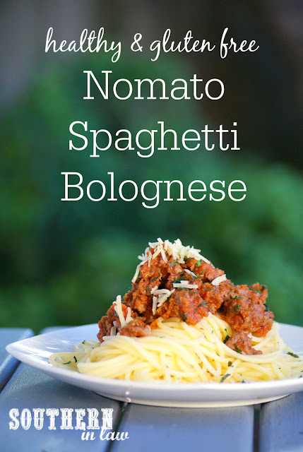 Healthy Nomato Spaghetti Bolognese Recipe - tomato free pasta recipes, low fat, gluten free, nightshade free, healthy spaghetti bolognaise recipe