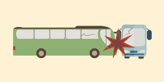 Bus Taruna Akpol Tabrak Truk Di Subang, 1 Orang Tewas