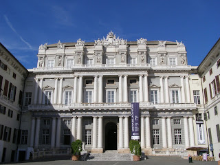 The facade of the Palazzo Ducale in Genoa