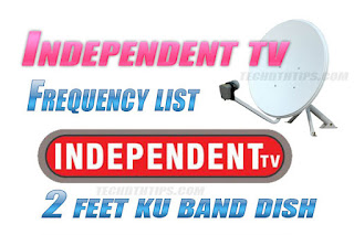 Independent TV Frequency  Independent TV Dth